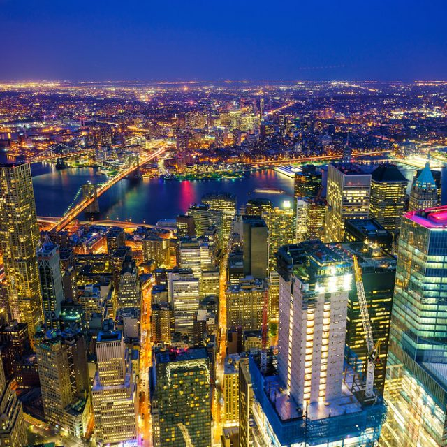 busy new york city skyline